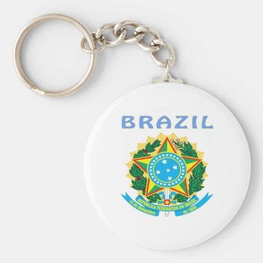 Escudo de armas del Brasil Llaveros