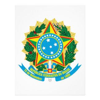Escudo de armas del Brasil Plantilla De Membrete