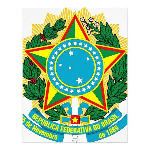 Escudo de armas del Brasil Membrete A Diseño