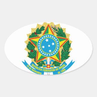 Escudo de armas del Brasil Pegatina Ovalada