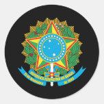 Escudo de armas del Brasil Pegatinas Redondas