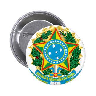 Escudo de armas del Brasil Pin Redondo 5 Cm