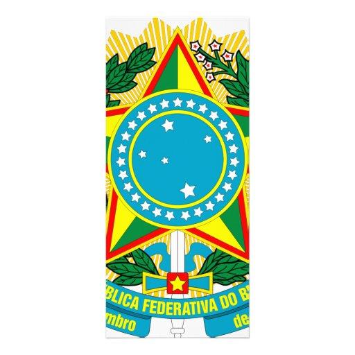 Escudo de armas del Brasil Plantilla De Lona