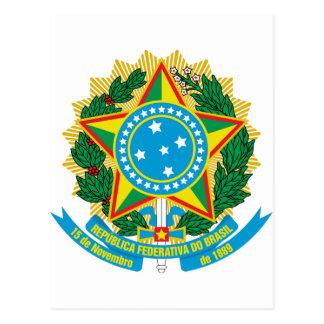 Escudo de armas del Brasil Postales
