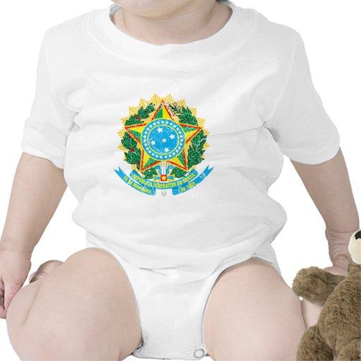 Escudo de armas del Brasil Trajes De Bebé