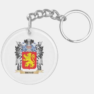 Escudo de armas del bravo - escudo de la familia llavero redondo acrílico a doble cara