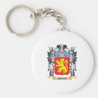 Escudo de armas del bravo - escudo de la familia llavero redondo tipo pin