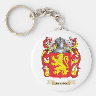 Escudo de armas del bravo (escudo de la familia) llavero redondo tipo pin