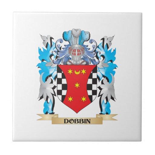 Escudo de armas del caballo de labor - escudo de l azulejo cerámica