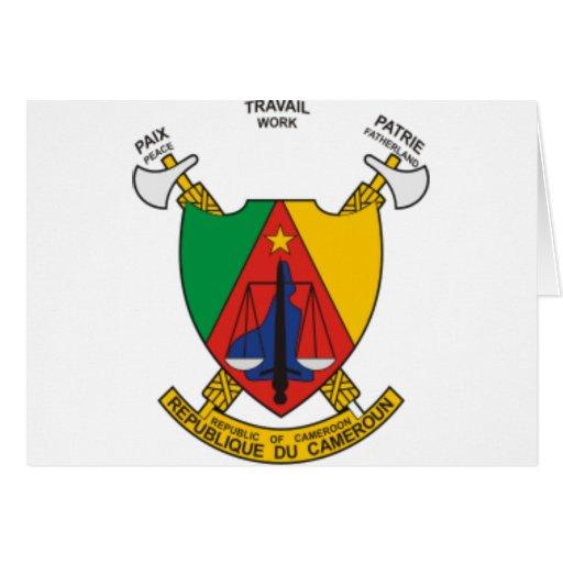 Escudo de armas del Camerún Tarjeta De Felicitación
