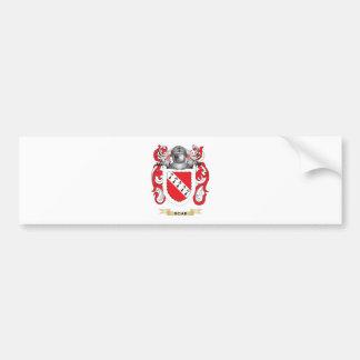 Escudo de armas del camino escudo de la familia pegatina de parachoque