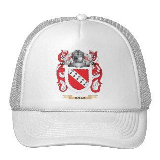 Escudo de armas del camino escudo de la familia gorro de camionero