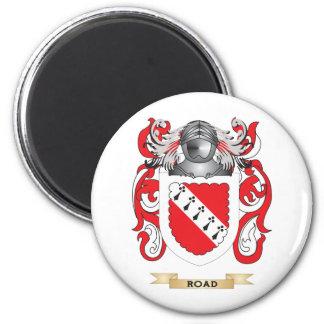 Escudo de armas del camino escudo de la familia imán para frigorífico