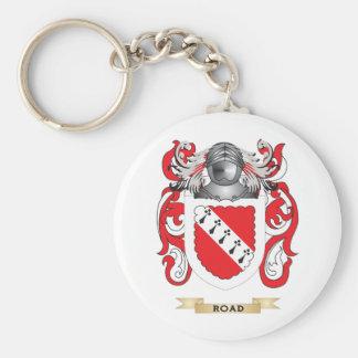 Escudo de armas del camino escudo de la familia llaveros personalizados