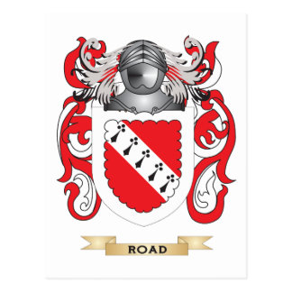 Escudo de armas del camino escudo de la familia tarjetas postales