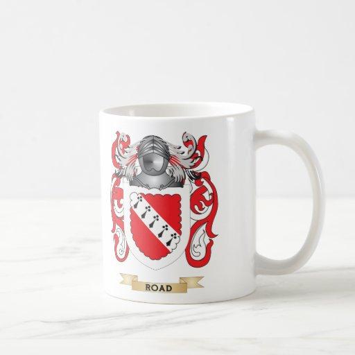 Escudo de armas del camino (escudo de la familia) tazas de café