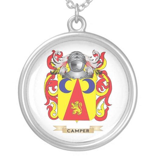 Escudo de armas del campista (escudo de la familia colgante redondo