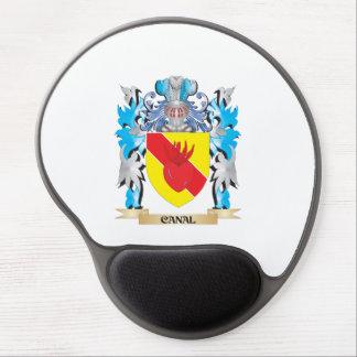 Escudo de armas del canal - escudo de la familia alfombrilla gel