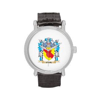 Escudo de armas del canal - escudo de la familia relojes de pulsera