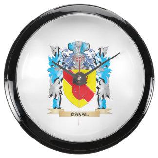 Escudo de armas del canal - escudo de la familia reloj pecera