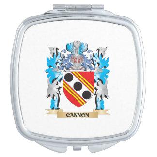 Escudo de armas del cañón - escudo de la familia espejo para el bolso