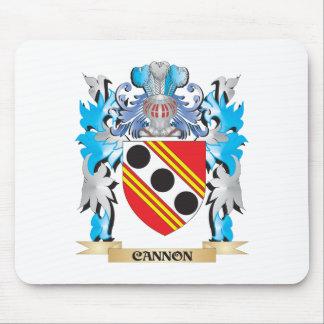 Escudo de armas del cañón - escudo de la familia alfombrillas de raton