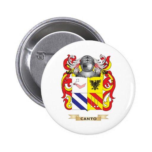 Escudo de armas del Canto (escudo de la familia) Pins