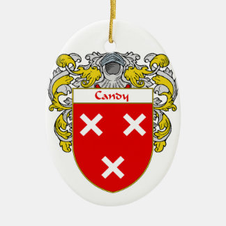 Escudo de armas del caramelo/escudo de la familia adorno ovalado de cerámica