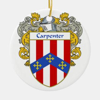 Escudo de armas del carpintero/escudo de la adorno redondo de cerámica