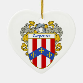 Escudo de armas del carpintero/escudo de la adorno de cerámica en forma de corazón