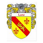Escudo de armas del carril/escudo de la familia tarjeta postal