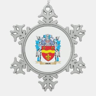 Escudo de armas del cateto - escudo de la familia adorno de peltre en forma de copo de nieve