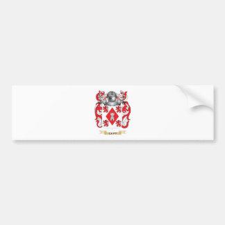 Escudo de armas del Cavy Etiqueta De Parachoque