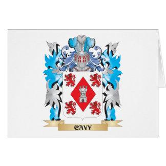 Escudo de armas del Cavy - escudo de la familia Tarjeta Pequeña