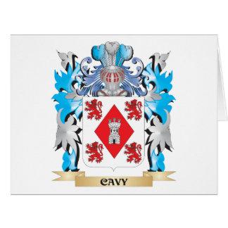 Escudo de armas del Cavy - escudo de la familia Tarjeta De Felicitación Grande