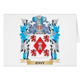 Escudo de armas del Cavy - escudo de la familia Tarjeta De Felicitación