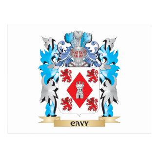 Escudo de armas del Cavy - escudo de la familia Tarjeta Postal