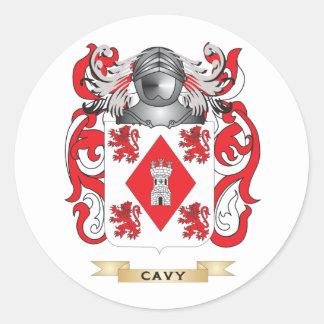 Escudo de armas del Cavy Etiquetas Redondas