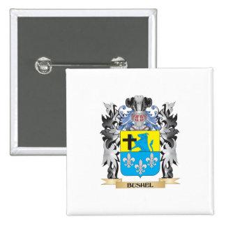 Escudo de armas del celemín - escudo de la familia pin cuadrada 5 cm