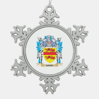 Escudo de armas del cocinero - escudo de la adorno de peltre en forma de copo de nieve