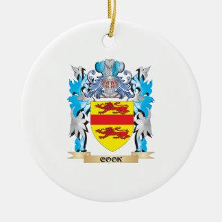 Escudo de armas del cocinero - escudo de la adorno redondo de cerámica