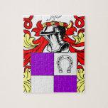 Escudo de armas del cocinero rompecabezas con fotos