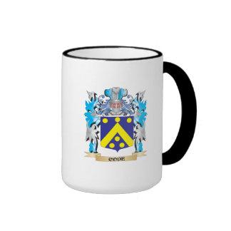 Escudo de armas del código - escudo de la familia tazas de café