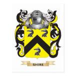 Escudo de armas del condado (escudo de la familia) postal