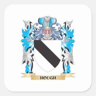 Escudo de armas del corvejón - escudo de la calcomanía cuadradas personalizadas