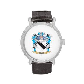 Escudo de armas del corvejón - escudo de la reloj de mano