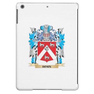 Escudo de armas del cuerno - escudo de la familia