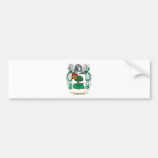 Escudo de armas del cuervo pegatina de parachoque