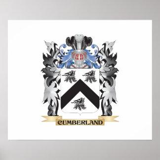 Escudo de armas del Cumberland - escudo de la Póster