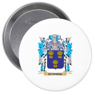 Escudo de armas del Cumming - escudo de la familia Pin Redondo 10 Cm